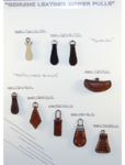 leather zipper pulls