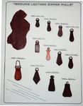leather zipper , leather zipper pulls