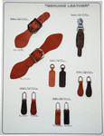 leather zipper , leather zipper pulls